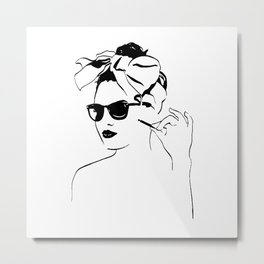 Girl vintag Metal Print