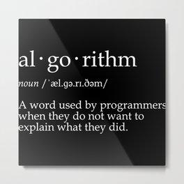 algorithm Metal Print