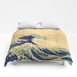 Hokusai parchment Comforters