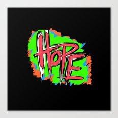 Hope (retro neon 80's style) Canvas Print