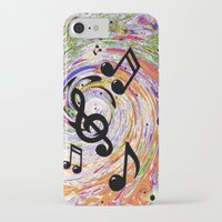 music notes iPhone & iPod Cases featuring Music Notes by gretzky