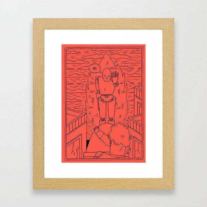 NO. Framed Art Print