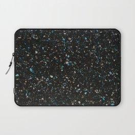 Terrazzo black with turquoise opaque Laptop Sleeve