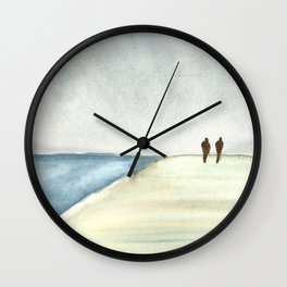 Walk at the Beach Wall Clock