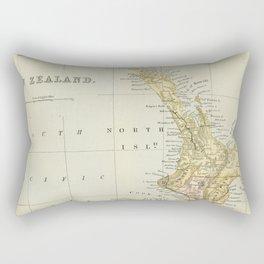 Vintage Map of New Zealand Rectangular Pillow