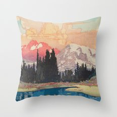 Storms over Keiisino Throw Pillow