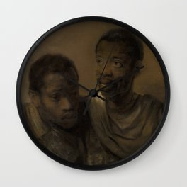 Two African Men Wall Clock