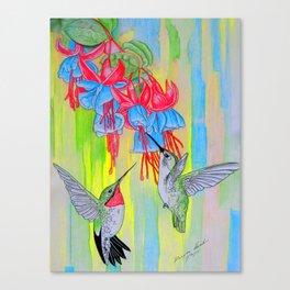 J Humming Bird Canvas Print