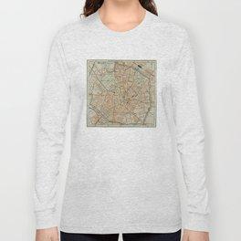 Vintage Map of Milan Italy (1911) Long Sleeve T-shirt