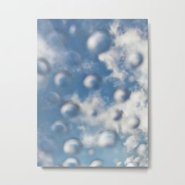 Sky Bubbles #abstract #art #society6 #decor Metal Print