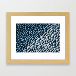 Black and White Pebble Framed Art Print