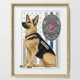K9 Unit Flag TENNESSEE copy Serving Tray
