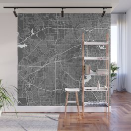 Fort Worth USA Modern Map Art Print Wall Mural