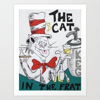 The Cat in the Frat Art Print