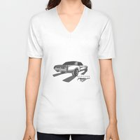 mustang V-neck T-shirts featuring Mustang by Mister Abigail