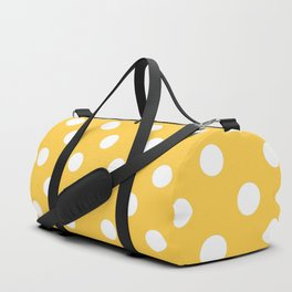 Polka Dots (White & Orange Pattern) Duffle Bag