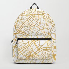 PARIS FRANCE CITY STREET MAP ART Backpack