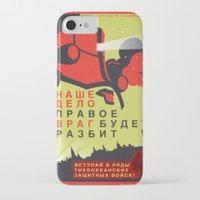 pacific rim iPhone & iPod Cases featuring Pacific Rim: Cherno Alpha Propaganda by MNM Studios