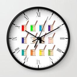 Tins Of Paint Wall Clock