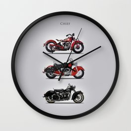 The Chief Trio Wall Clock