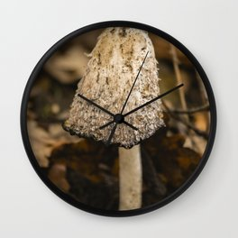 White in the forest Wall Clock