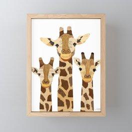 Giraffe Collage Framed Mini Art Print