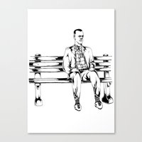 forrest gump Canvas Prints featuring Forrest Gump by Christine S.
