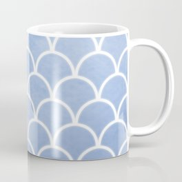 Beautiful textured large scallops in serenity blue Coffee Mug