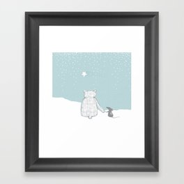 Shooting Star and friends Framed Art Print
