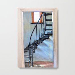 Admiralty Head Lighthouse Stairs Metal Print