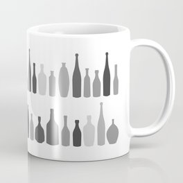 Bottles Black and White on White Coffee Mug