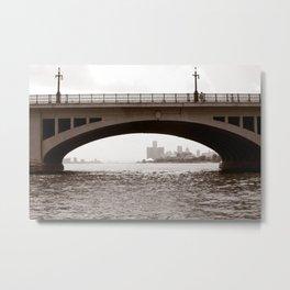 Two Bridges, Belle Isle Detroit Metal Print