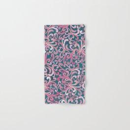 Pink on Green - Paisley Hand & Bath Towel
