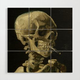 Vincent van Gogh - Skull of a Skeleton with Burning Cigarette Wood Wall Art