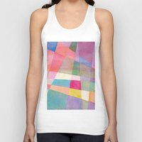 grid Tank Tops featuring Grid by Dreamy Me
