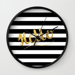 Golden Hello's Wall Clock