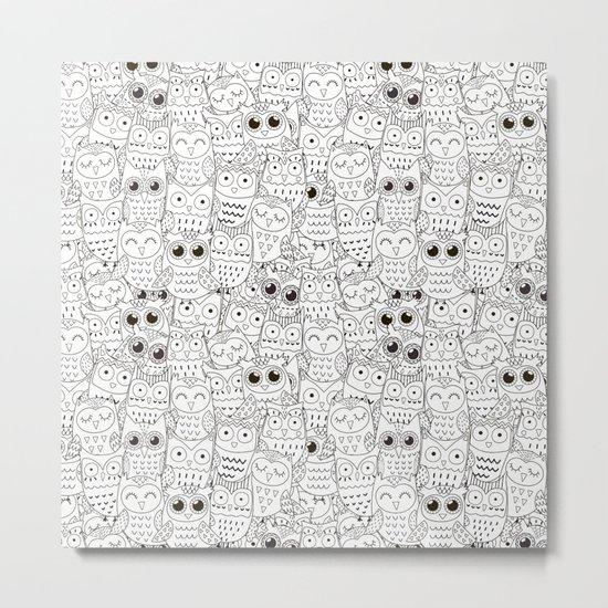 Kiss My Owl Metal Print