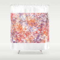 sprinkles Shower Curtains featuring Sprinkles by Flavia Dacol