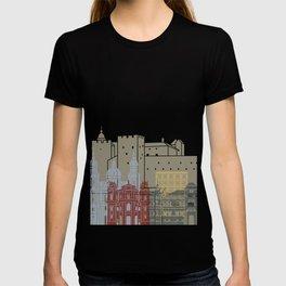 Salzburg skyline poster T-shirt