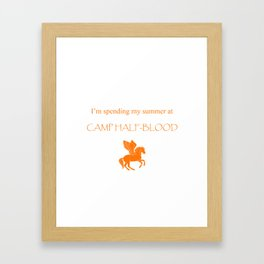 Spending my summer at Camp Half-Blood Framed Art Print