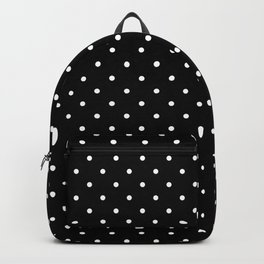Small Black and White Polka Dots pattern  Backpack