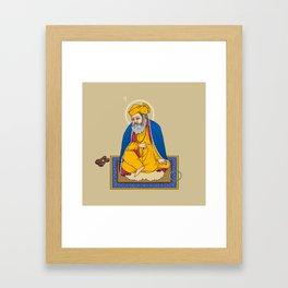 Sri Guru Nanak Dev Ji Framed Art Print