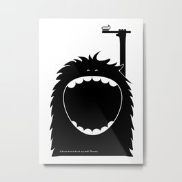 """""""I know how to brush my teeth"""" Monster Metal Print"""