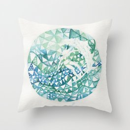 World Surfer Throw Pillow