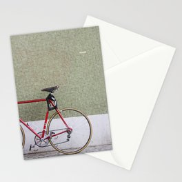 Bike in the city Stationery Cards