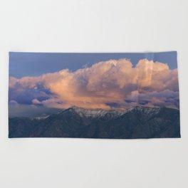 Southwest Winter Sunset - Virgin Mountains Beach Towel