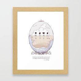 ee cummings - Went Framed Art Print