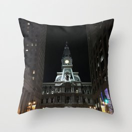 Philadelphia, City Hall Throw Pillow