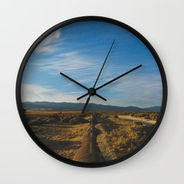 Los Angeles Aqueduct - Pacific Crest Trail, California Wall Clock