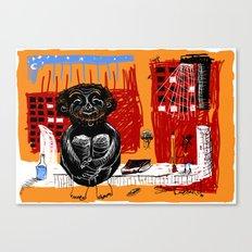 sitting happy Canvas Print